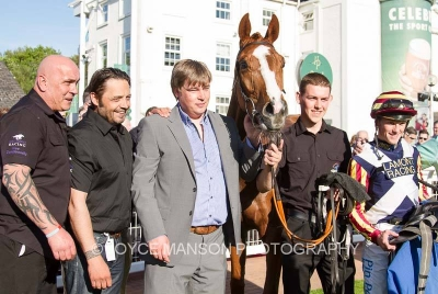 Delighted owners in the winning enclosure at Hamilton.